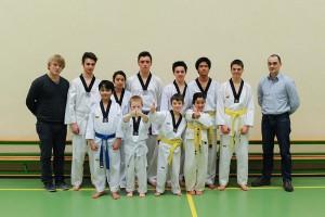 Examen taekwondoclub Deerlijk maart 2014