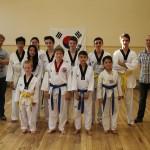 Taekwondo-examen juni 2014