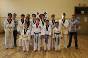Foto taekwondo examen 2014