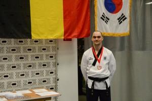 Pieter met medaille